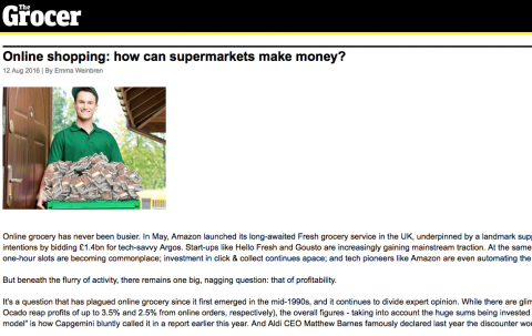 The Grocer UK online grocery shopping FRC Paul Foley